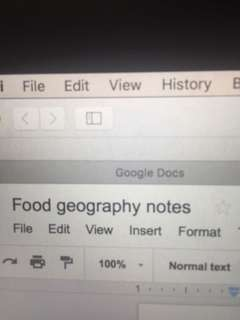 Food geography notes