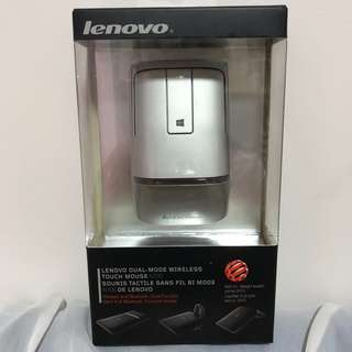 BNIB Lenovo Dual-Mode Wireless Touch Mouse N700 in Silver Grey (wireless and Bluetooth dual function)