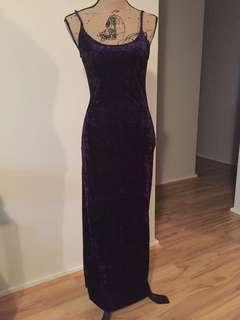 Le Bunnies purple velvet slip dress