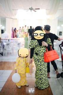 Baju Kurung Fizi Woo (Dewasa) & Baju Kurung Sireh Pinang (kanak-kanak)