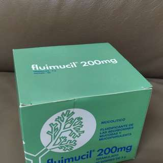 Fluimucil成人橙樹化痰素200mg(可散賣)