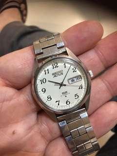 出售物品: 60s seiko actus 自動 日本曆,前後快調 象牙白 阿拉伯數字 (6306 7010)