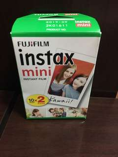 (Out of stock) Fujifilm Instax Mini Instant Film Plain Polaroid Films 10 sheets x 2 packs