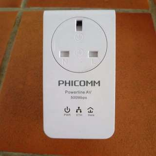 Phicomm FPA-511P 500Mbps Passthrough Powerline Network Adapter [b2]