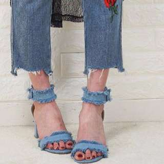 Denim sandal from Korea
