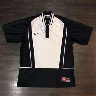 🚚 Nike 球衣式古著運動外套上衣 黑白配色 稀有款式