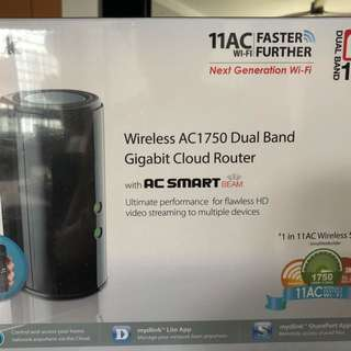 (Price reduced!) D-Link AC1750 Dual Band Gigabit Cloud Router