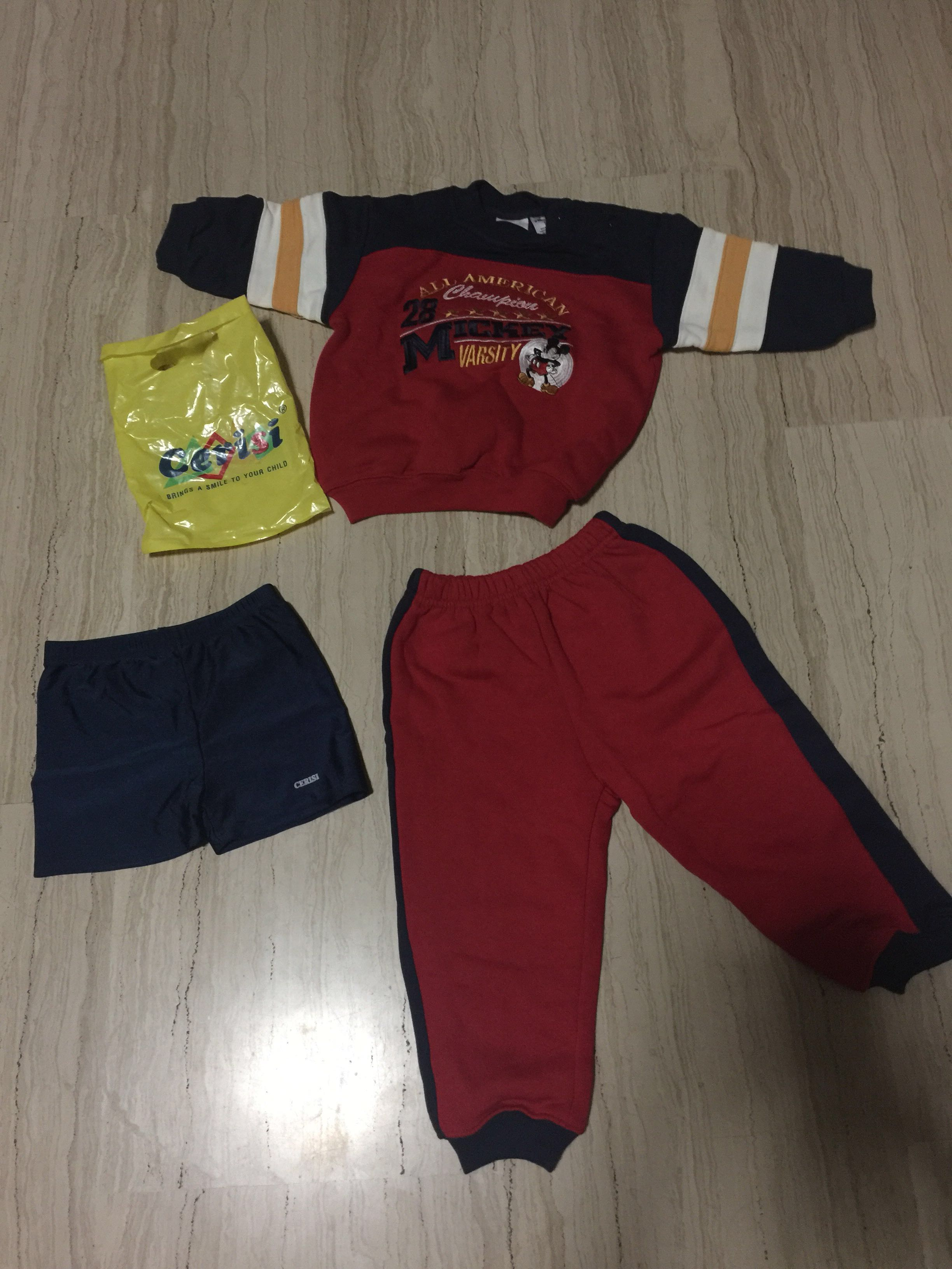 18months old 👶 suit The Disney Store & swim trunk Cerisis size 10