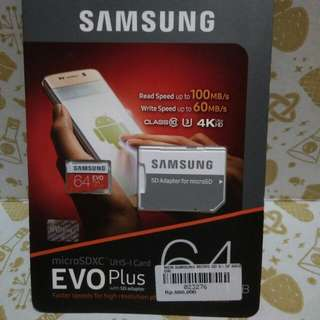Ori samsung sd card 64 gb