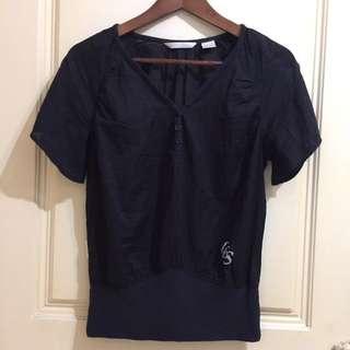 全新_LEVIS LADY STYLE 黑色異材質 棉衫 XS-S美女