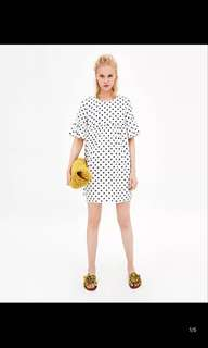 Europe and the United States dot print dress