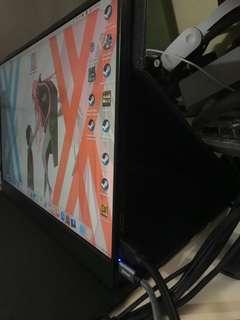 新版 15.6寸 窄邊框 便攜屏幕 1080P hdmi USB type-c供電