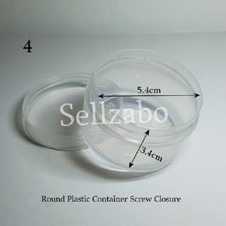#B White Plastic Empty Round Clear Colour Tubs Cases Casings Holders Containers Sellzabo Sizes For Travelling Storage