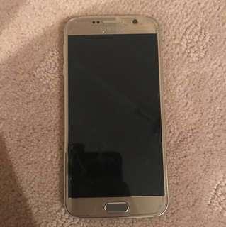 Samsung Galaxy S6 [64GB] GOLD + OAK WOOD DBRAND BACK