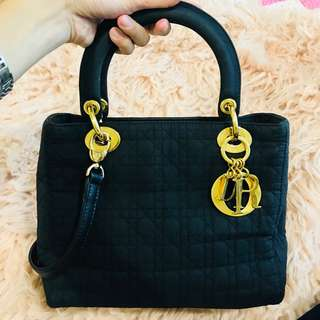 Authentic Lady Dior in Medium Suede Microfibre