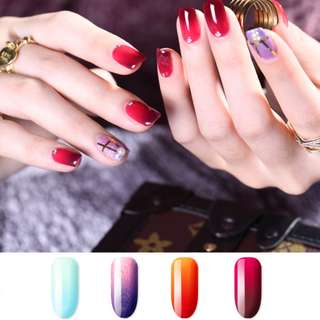 4x7ml Popular Kasi Temperature Series Gel Polish