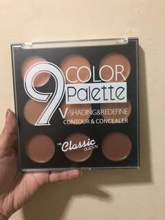 9 color palette cream contour and concealer
