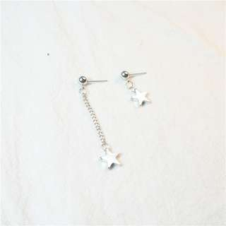 [PO] Star Asymmetrical Earrings