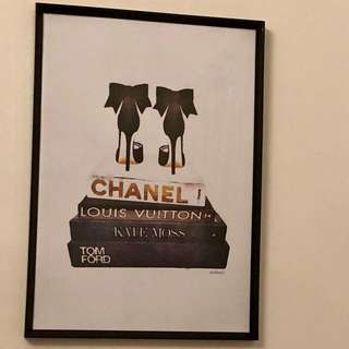 Designer art print Chanel LV Kate Moss Tom Ford