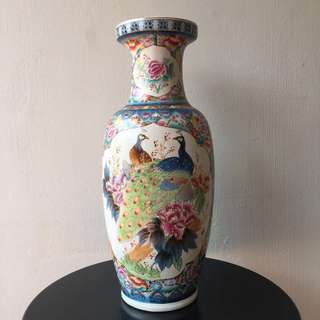 Chinese Floral Antique Vase
