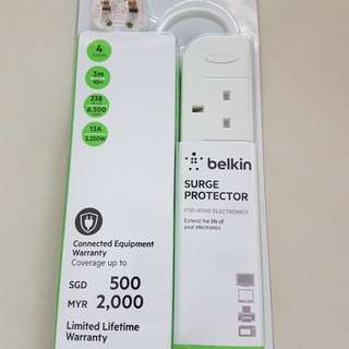 100% Authentic Belkin Economy Series 4 Socket Surge Protector