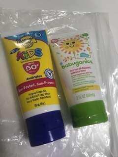 Kids' sunscreen