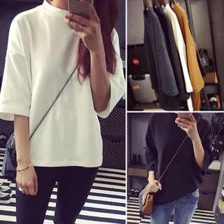 Dark Grey Basic Plain Shirt