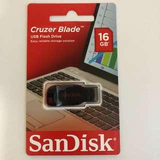 BNIP SanDisk Cruzer Blade USB Flash Drive 16gb 16 gb thumb drive