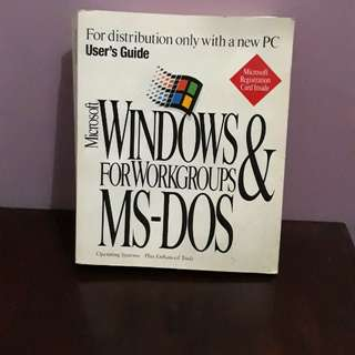 Buku Microsoft Windows for Workgroups & MS-DOS
