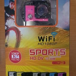 山狗7代SJ9000粉色WIFI版運動攝像機 3電有叉機