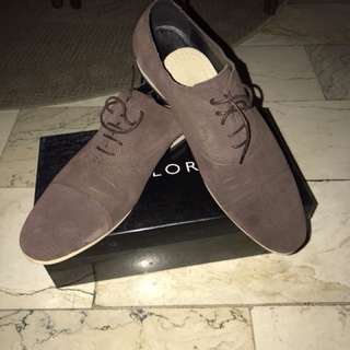 Zalora Suede Leather Lace-up