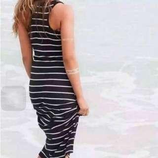 Stripes maxi'dress