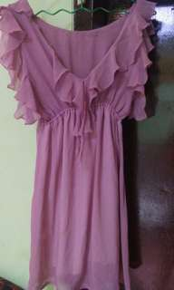 Dress ungu muda