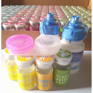 Contact lens w/ case and solution