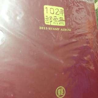 102年郵票冊(含1120元的郵票)