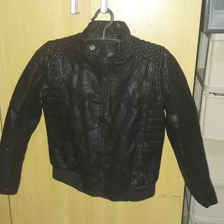 Black leather jacket for boys