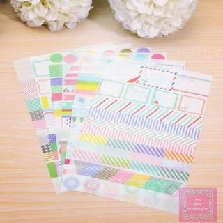 Set of 6 Rainbow Drawing Sticker