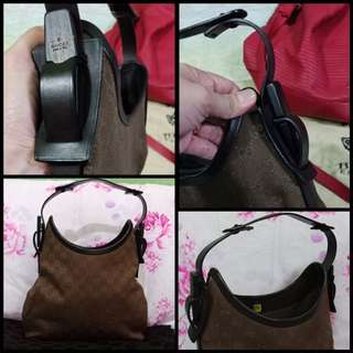 Gucci hobo with wood trim