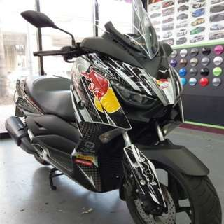 Full Bike Red Bull Decals For Yamaha XMAX 300