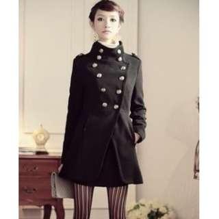 Brand New : Black Military coat