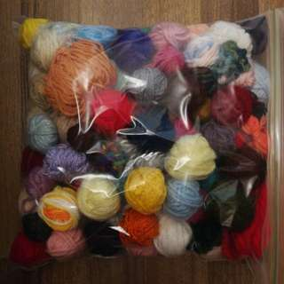 Assorted yarn leftovers x 1 bag
