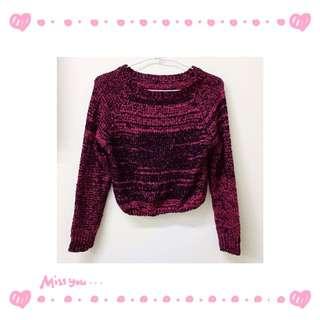 🔥$80搶購🔥短版混色長袖針織衫毛衣