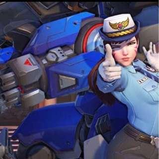 Police Officer D.Va Cosplay