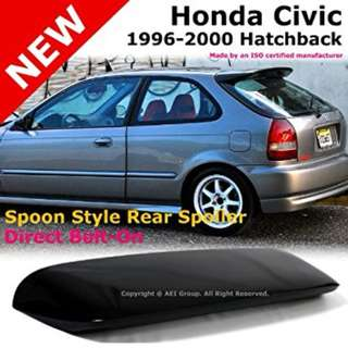 Spoon style wing for Honda EK hatch