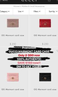 Gucci Marmont wallet and card