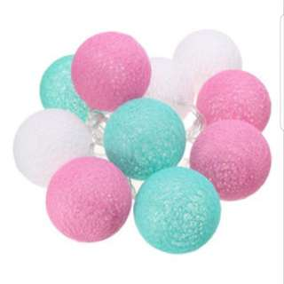Cotton light balls pink and blue