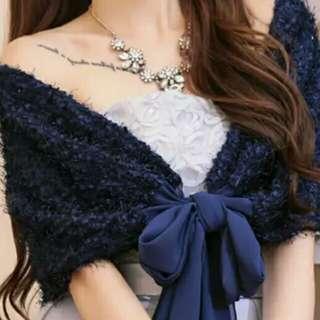 藍色披肩,結婚用品