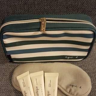 Agnes B 國泰商務艙 旅行裝禮包 有agnes b logo 牙刷眼罩 跟Jurlique潤膚套裝