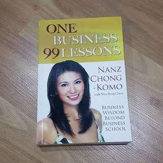 One business 99 lessons - Nanz Chong-Komo