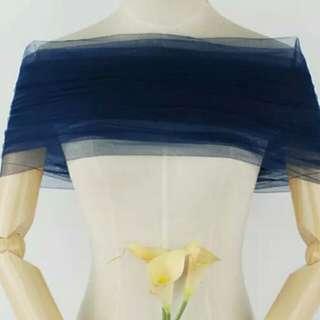 藍色肩紗,結婚用品